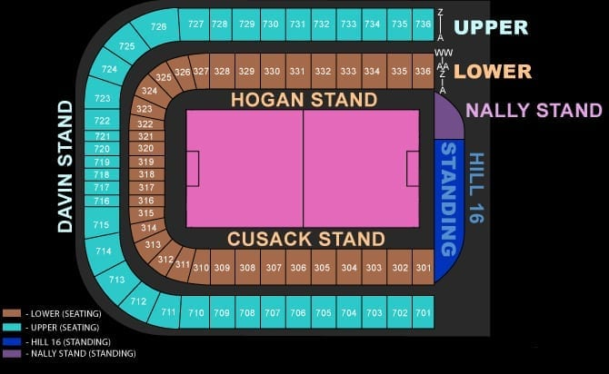 Croke Park Seating Plan