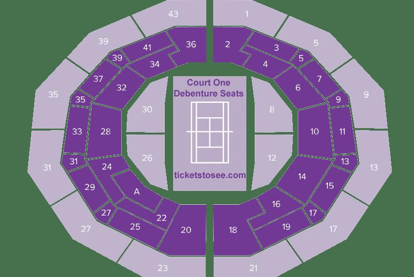 Wimbledon Court 1 Seating Plan