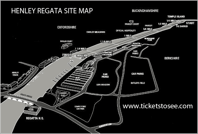 Henley Regatta Site Map