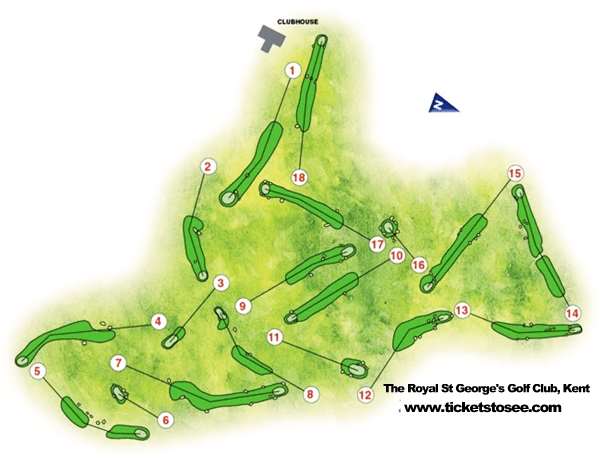 Royal St George's Course Map