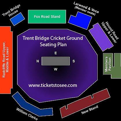 Trent Bridge Cricket Ground Seating Plan