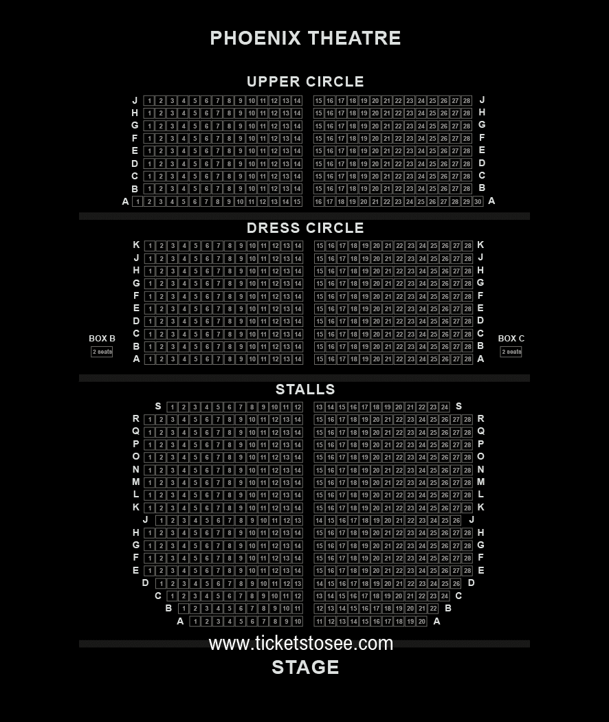 Phoenix Theatre Seating Plan