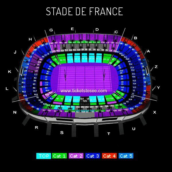 Stade de France seating plan
