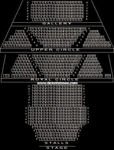 Theatre Royal Haymarket Seating Plan London
