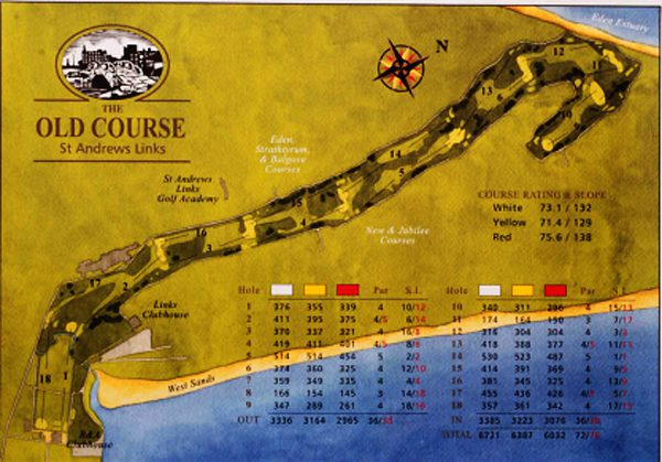 St Andrews GC Map